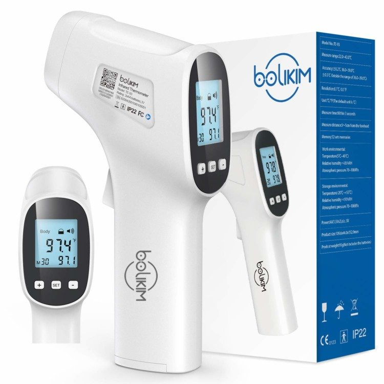 Fever Alarm Infants School Office Use- FDA Certificate /& Fast Delivery Infrared Forehead Thermometer 2020 New Adults Non Contact Medical Thermometer Memory Function Ideal for Baby